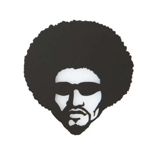 Afro Dude Metal Fridge Magnet