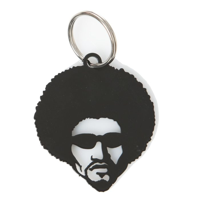 Keyring Afro Dude Metal Black