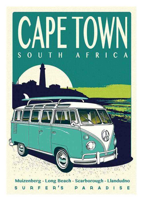 Cape Town Surfer's Paradise Poster