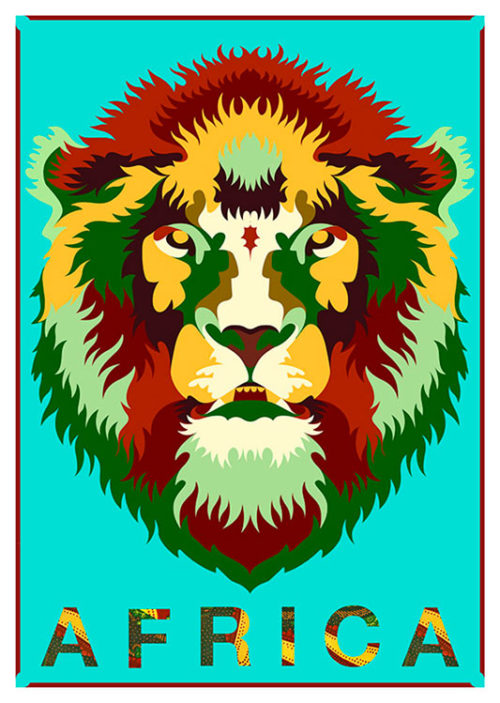 Africa Lion Poster