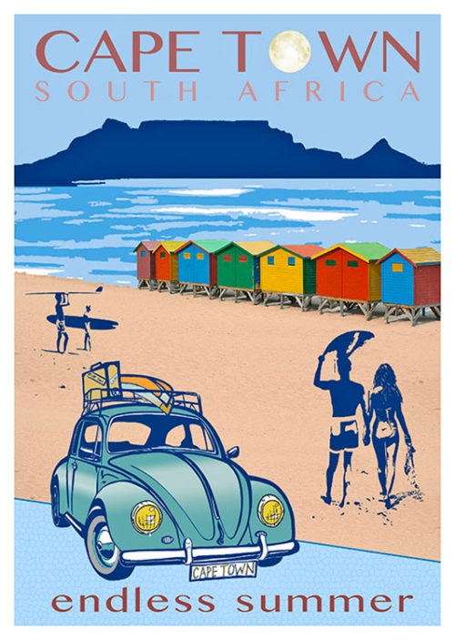 Cape Town Endless Summer Beetle Poster