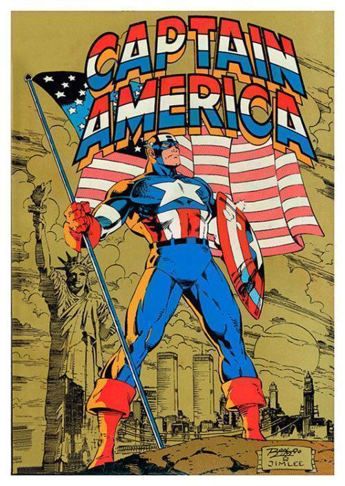 Captain America Flag Poster