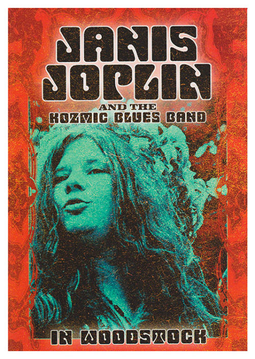 Janis Joplin Woodstock Poster