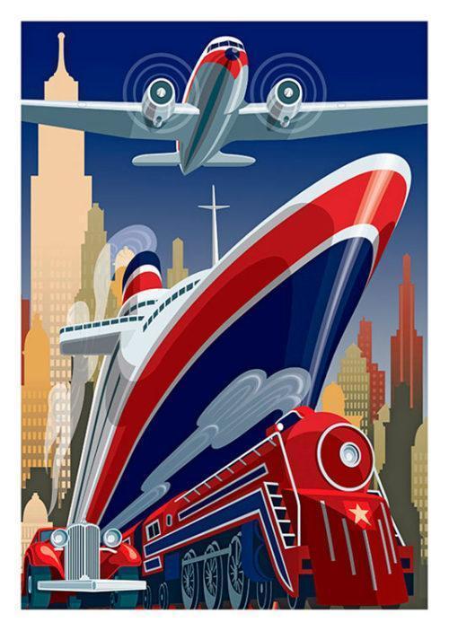 New York USA Poster
