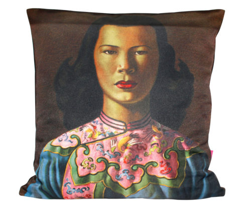 Chinese Girl Pink Jacket Tretchikoff Cushion Cover 50CM X 50CM