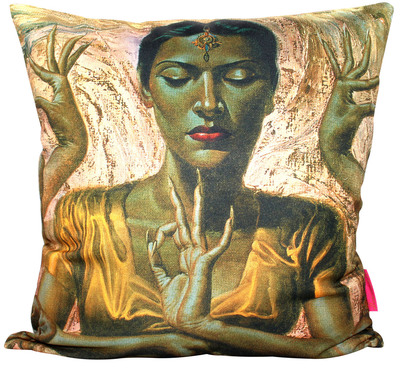 The Dancing Hindu Tretchikoff Cushion Cover 50cmx50cm