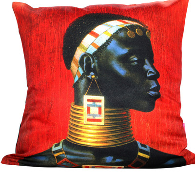 Red Ndebele Woman Tretchikoff Cushion Cover 50cmx50cm