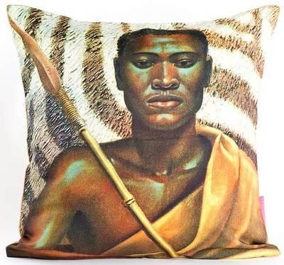 Xhosa Warrior Tretchikoff Cushion Cover 50cmx50cm