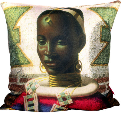 Woman of Ndebele Tretchikoff Cushion Cover 50cm x 50cm