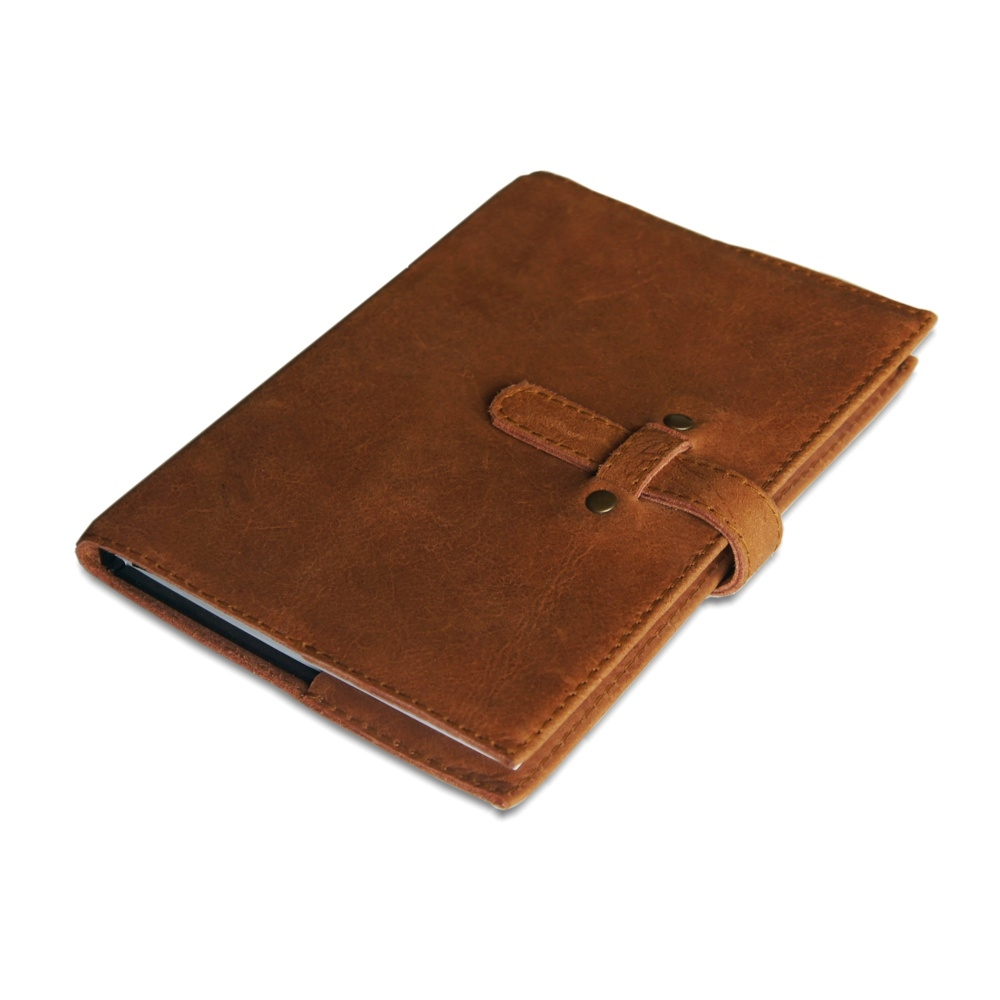 Leather book cover A5