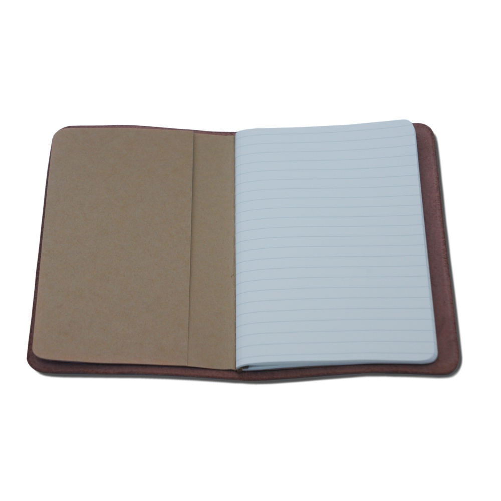 Buy Small Leather Notebook with lined paper on the inside