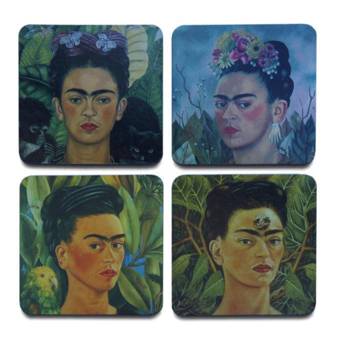 Frida Kahlo Inspired Set of 4 Coasters