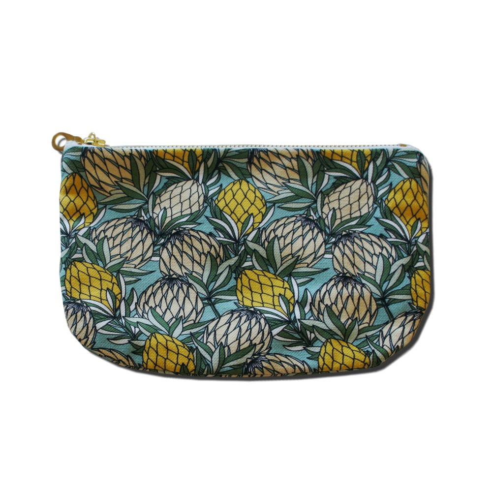 Coin Purse With Red Protea Design