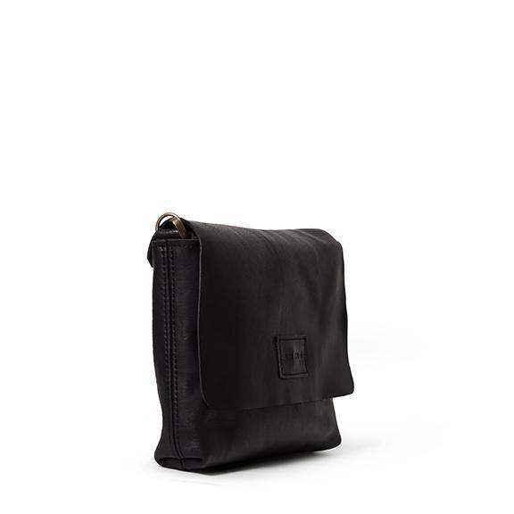 Antelo Jeanie XL Leather Crossbody Handbag - Black
