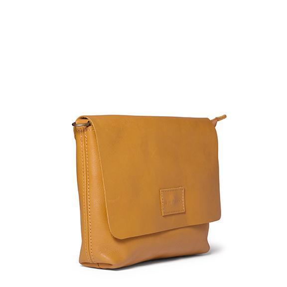Antelo Jeanie XL Leather Crossbody Handbag - Mustard & Tan