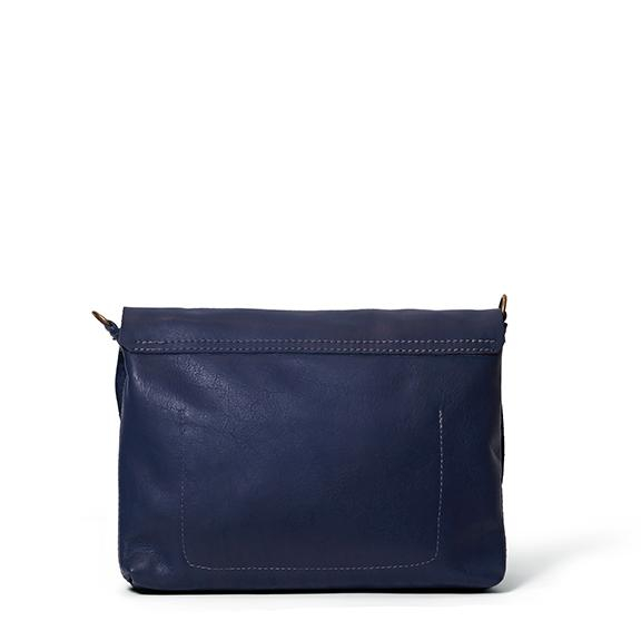 Antelo Jeanie XL Leather Crossbody Handbag - Navy & Tan