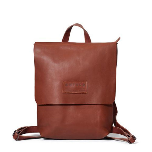 Henry unlined leather backpack - Tan & Barcelona Tan
