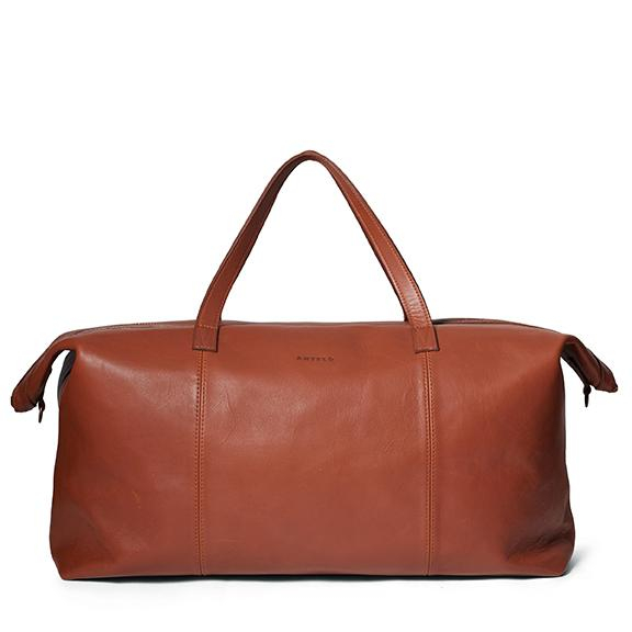 Antelo Oliver Leather Travel Weekender - Tan