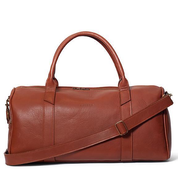 Antelo William Leather Duffel Sports Bag - Tan
