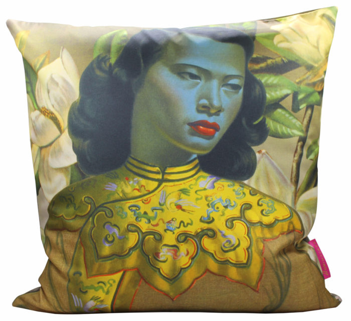 Tretchikoff Chinese Girl with Magnolias Cushion Cover 50cm x 50cm