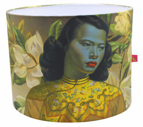 Tretchikoff Lampshade - Chinese Girl with Magnolias