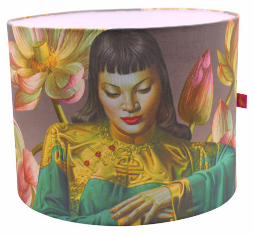 Tretchikoff Lampshade - Lady of Orient with Lotus Flowers