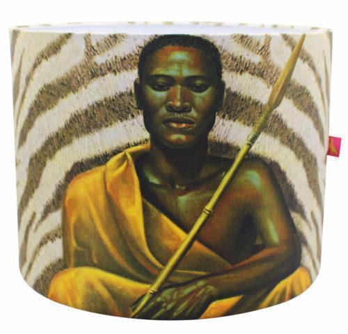 Xhosa Warrior Lamp Shade