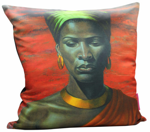 Tretchikoff Zulu Girl Red Sunset Cushion 50x50cm Cover