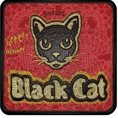 Buy a funky Black Cat Peanut Butter Coaster for protecting your furniture from drink spills
