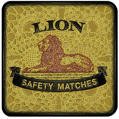 Buy a funky Lion Safety Matches Coaster for protecting your furniture from drink spills
