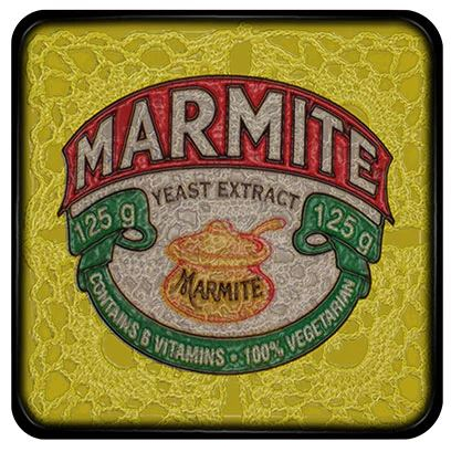 Buy a funky Marmite Coaster for protecting your furniture from drink spills