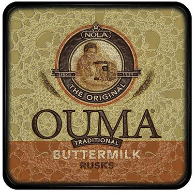Buy a funky Ouma Rusks Coaster for protecting your furniture from drink spills