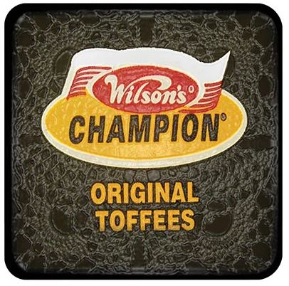 Buy a Wilsons Champion Toffees Coaster for protecting your furniture from drink spills