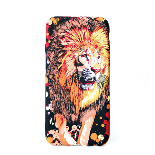 Glow in the dark Lion Design cellphone cover for the iphone, samsung or huawei