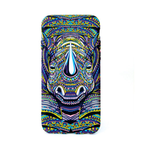 Glow in the dark Rhino Design cellphone cover for the iphone, samsung or huawei