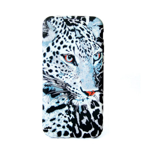 Glow in the dark cellphone cover for the iphone, samsung or huawei. Snow Leopard Design