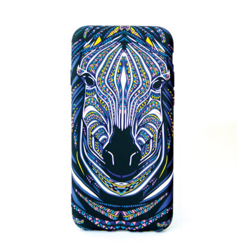 Glow in the dark Zebra Design cellphone cover for the iphone, samsung or huawei