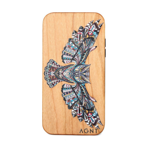 Wooden Cellphone COvers with Printed Owl Design