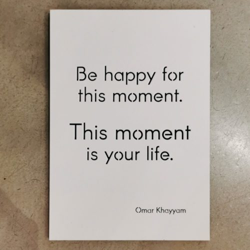 Wall Hanging. Be happy For This Moment
