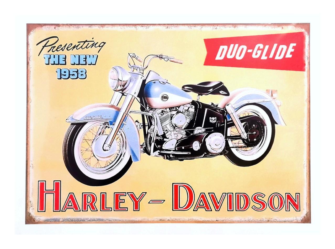 Vintage Harley Davidson Poster 1958