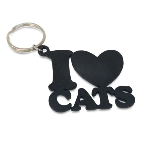 I love Cats Keyring
