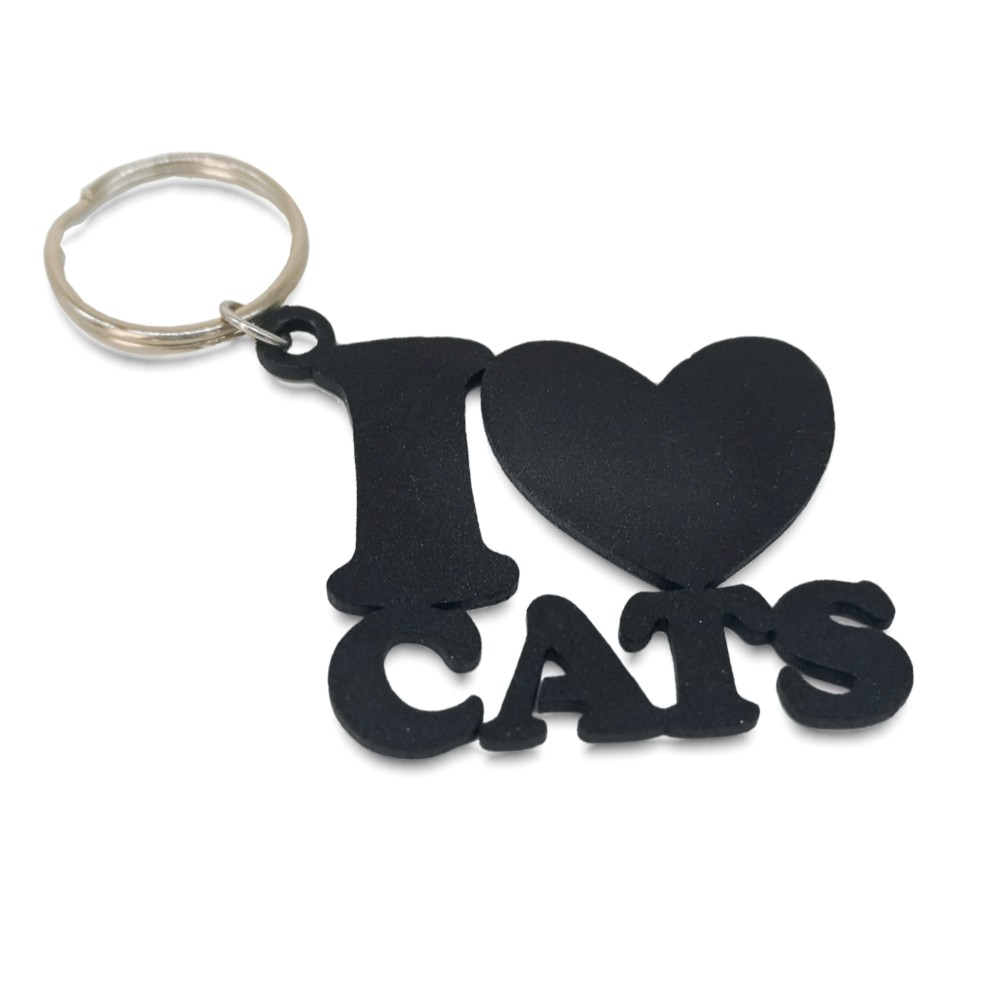 I love Cats Keyring