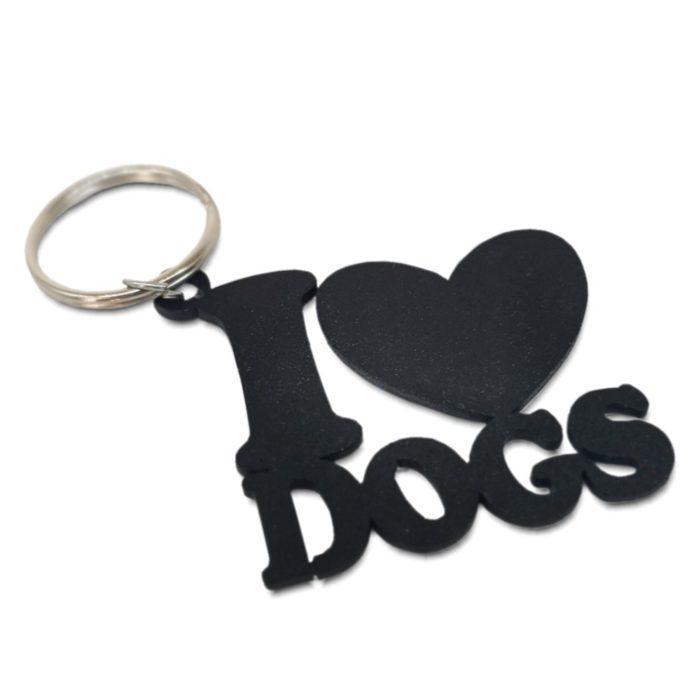 I Love Dogs Keyring