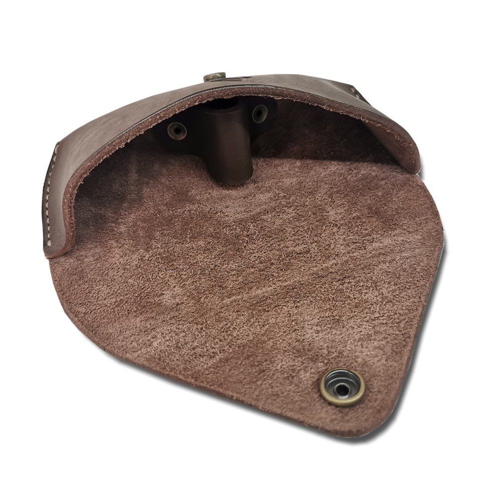 Leather Glasses Case Inside View