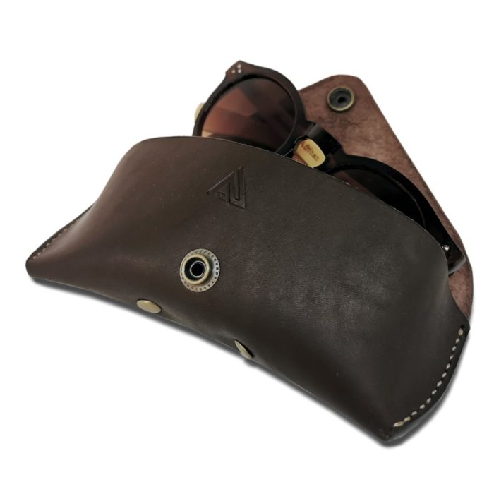 Leather Glasses Case with Sunglasses Inside