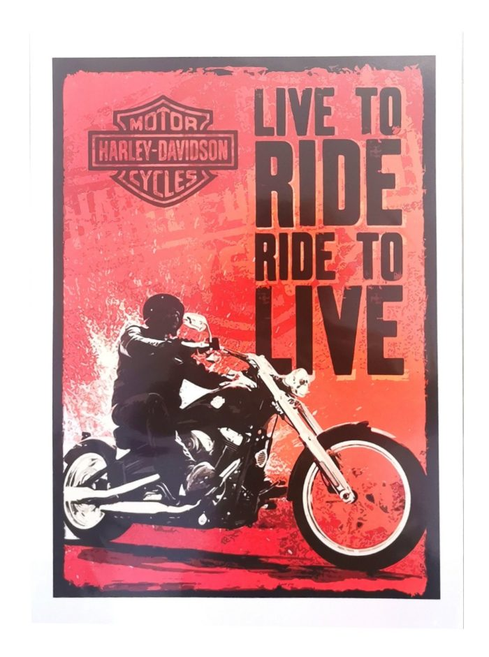 Live to Ride Harley Davidson Poster
