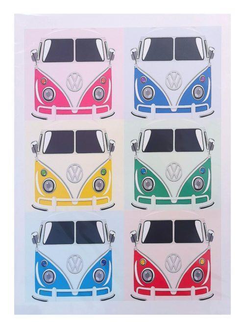 Six Combis POP Art Poster