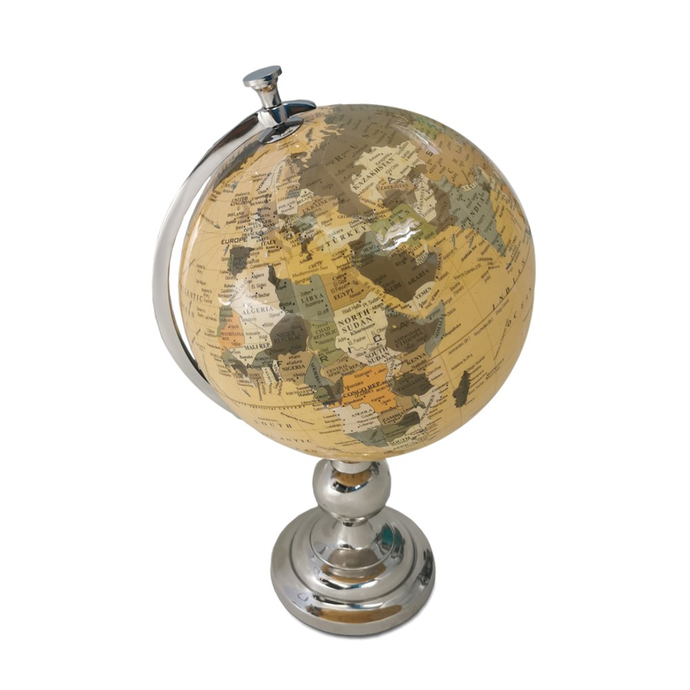 Spining Globe of Earth 46cm with Stainless Steel Base